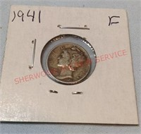 1941 F Mercury Dime