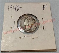1942 F Mercury Dime