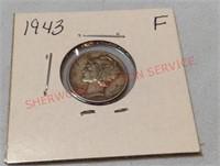 1943 F Mercury Dime