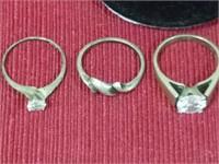 6 .925 Silver Rings