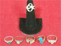 6 .925 Sterling Rings