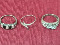 5 Marked Sterling Rings