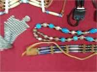 Lot of Native American Beaded Jewelry