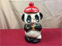 Japan Biscuit Mid Century Ceramic Cookie Panda Jar