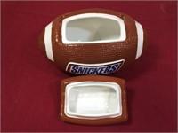 Galarie Ceramic Snicker Football Cookie Jar