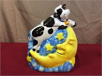 Cow Jumping Over the Moon Cookie Jar