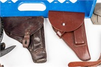 Lot of Mixed Gun Leathers, Belts, and Pouches