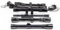 Lot of 6 Rifle Scopes