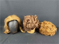 Vintage Wigs Formerly Owned by Constance Stuart