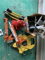 Mix Lot Jig Saws, Saw Horse Ends, Tape