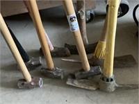 Sledge Hammers & Pick Axe (8)