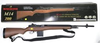 Air rifle with CO2 clips, 1b rd. pellet asp in box