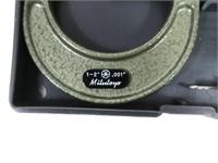 "Mitutoyo 1-2"" .001 micrometer in case"