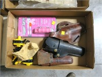 Lot, holsters, gun locks, pepepr spray