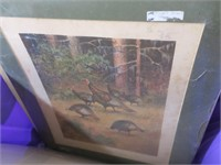 Lot, unframed hunting and game prints, plus many