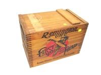 Remington dovetailed wood advertising box, 12 Ga.