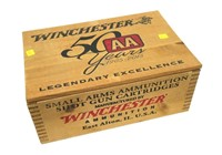 Winchester dovetailed wood advertising ammo box,