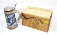 DU 1987 First Edition beer stein in wooden box