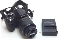 NIKON D3100 DIGITSL CAMERA WITH CHARGER, NIKON