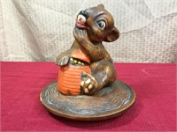 Ceramic Squirrel Cookie Jar