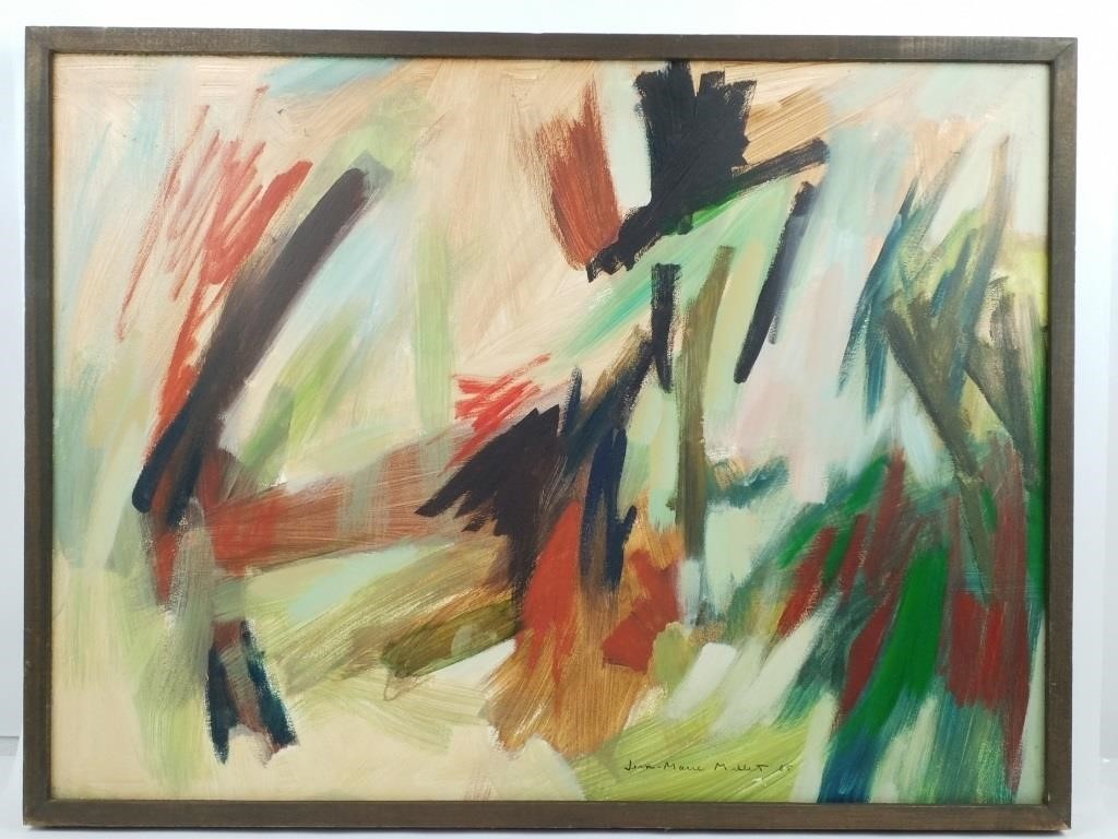 Peinture Sur Panneau Signee Jean Marie Millet Hibid Auctions
