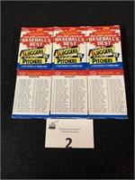 (6) Boxes of 1986 Fleer Baseball's Best
