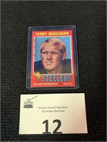 1971 Topps Terry Bradshaw Rookie Car w/Signature