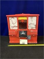 Vintage 2 Cent Gum and Card Dispenser