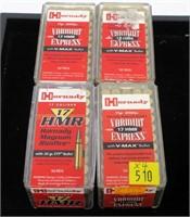 4- Cases of Hornady .17 HMR Vermint Express V-Max