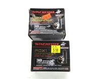 2- Boxes of Winchester Elite .38 SPL +P 130-grain