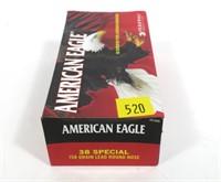 Box of American Eagle .38 SPL 158-grain LRN