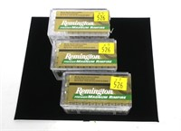 3- Cases of Remington .22 WIN Mag. cartridges,