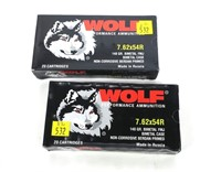 2- Boxes of Wolf 7.62 x 54R 148-grain FMJ