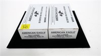 2- Boxes of American Eagle 9mm Luger 124-grain FMJ