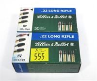 2- Boxes of .22 LR cartridges