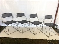Set of 4 Metal Chairs