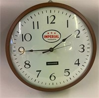Edward Wall Clock with Imperial Oil Label