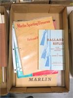Lot, pamphlets: Ballard Rifles, Marlin Firearms,