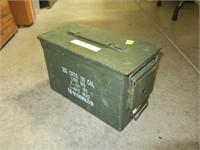 Green metal ammo can