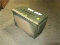 Green metal ammo can