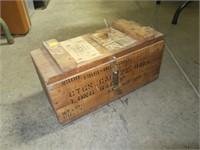 Wood .22 Ball ammo box