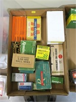 Lot, partial boxes ammo and reloads: .22-250,