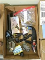 Lot, locks, brass, knives, NYCS lock with key,