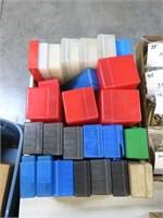Lot, 25 plastic cartridge boxes, used