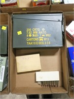 Lot, ammo can and .30-06 cartridges