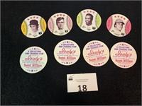 (8) 1976 Isaly's Sweet Williams Baseball Tops