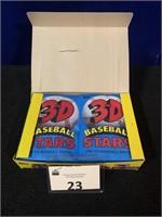 (1) 1985 Topps 24 ct. box of 3D Baseball Stars