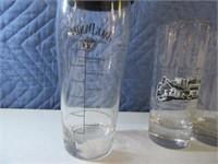 Lot (11) JackDaniels Asst Drinking Glasses Shot EC