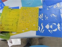 Big LOT Poly Stencil Patterns & Drawing Acces