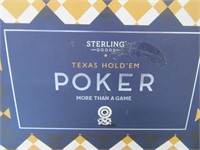 Texas HoldEm NEW Poker Set STERLING GAMES